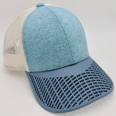 Boat Brim Teal and Peackock Trucker Hat