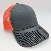 Boat Brim Orange Mesh Trucker Hat