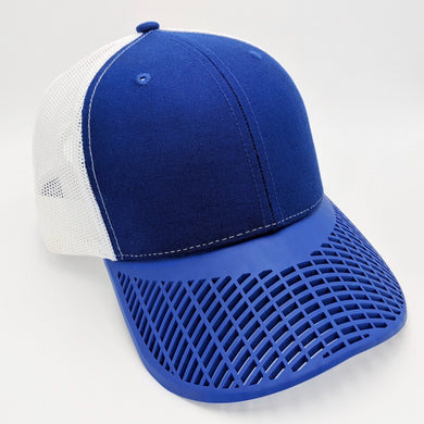 Boat Brim Blue and White Trucker Hat