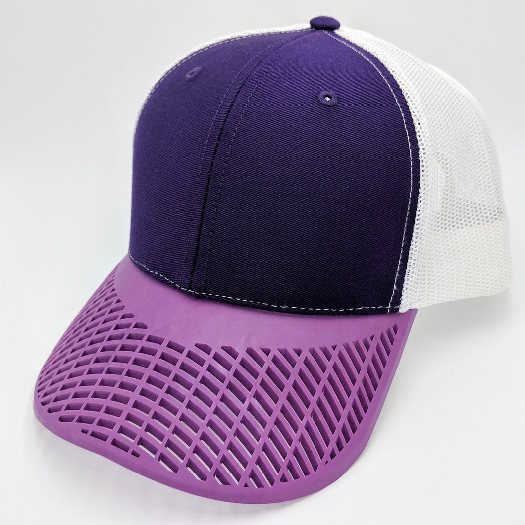 Boat Brim Purple Trucker Hat