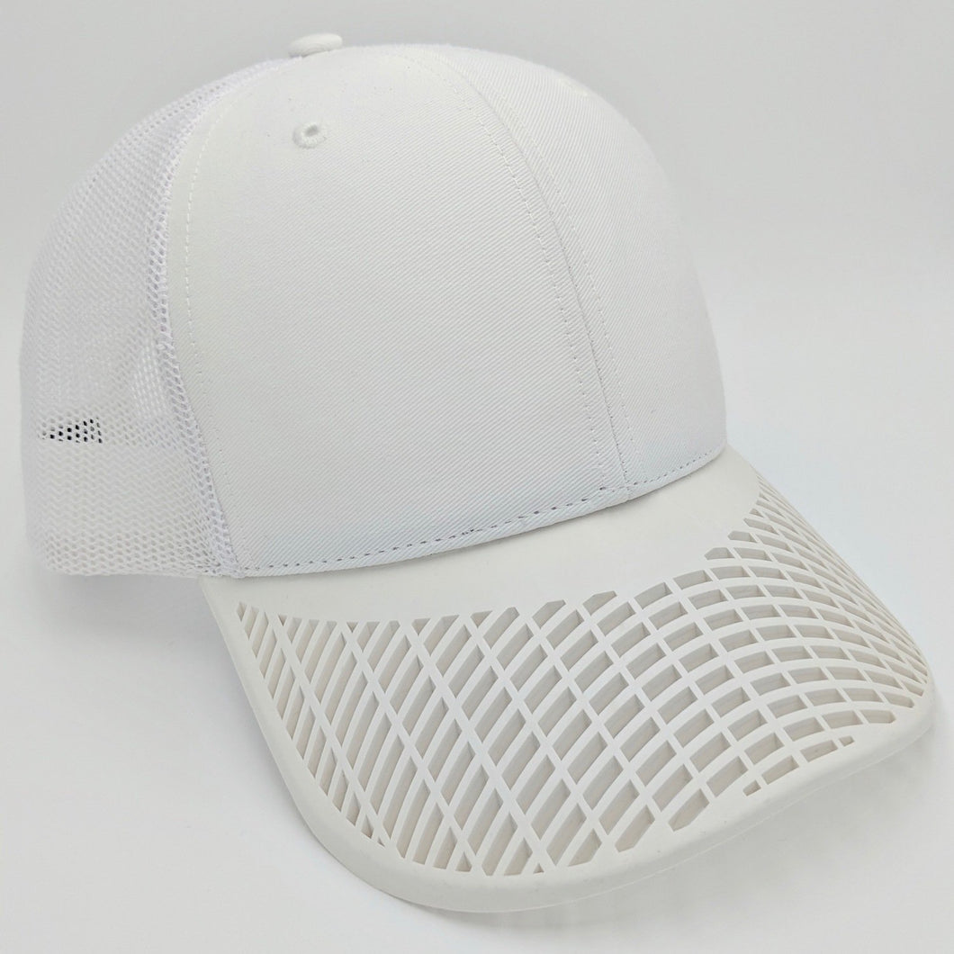 Boat Brim White Trucker Hat