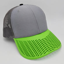 Boat Brim Grey and Neon Green Trucker Hat