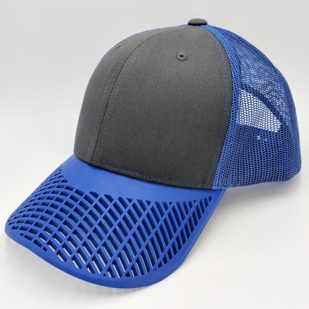 Boat Brim Black and Blue Trucker Hat