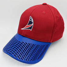 Boat Sail Hat (New Style) Red and Blue
