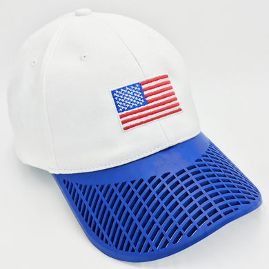 Boat Brim Flag Hat (100% Made in USA) Blue