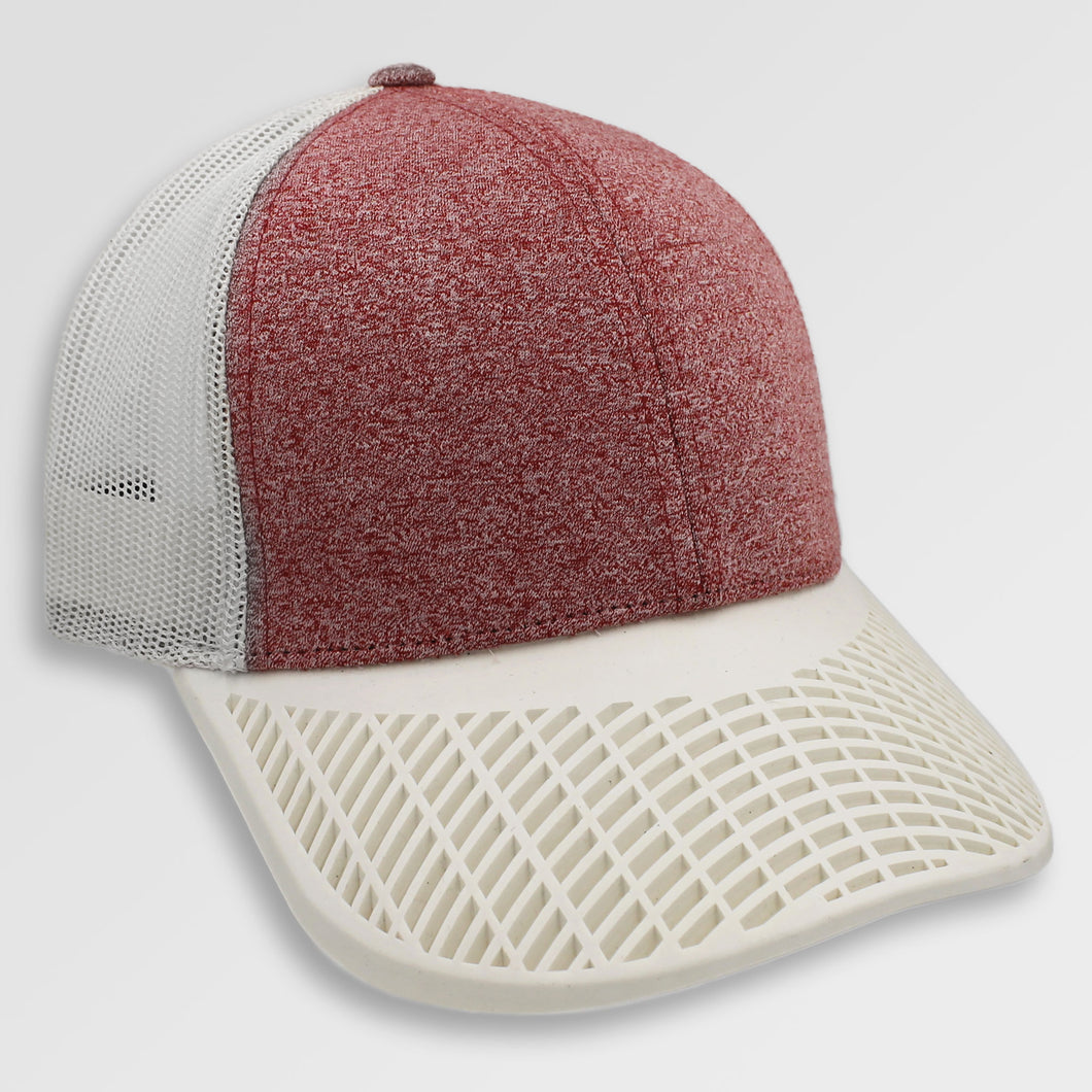 Heather Red and White Trucker Hat