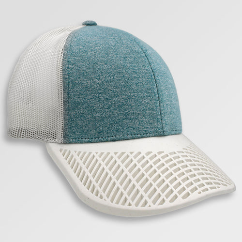 Heather Teal and White Trucker Hat
