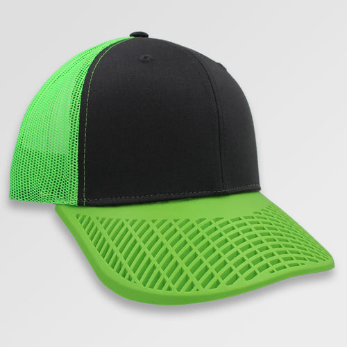 Neon Green and Charcoal Trucker Hat