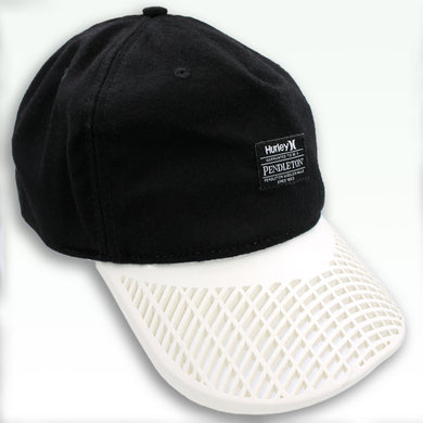 LIMITED EDITION - BB Sports: Hurley Black & White Pendleton Skater/Surfer Hat