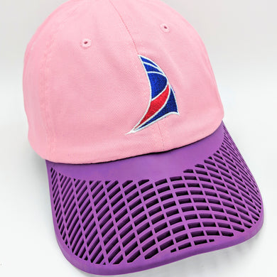 Ladies Sail Hat - Pink with Purple Brim