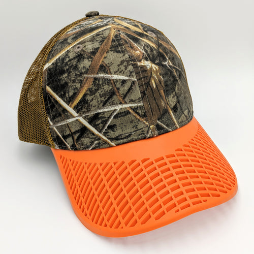 Camo Brown and Orange Trucker Hat