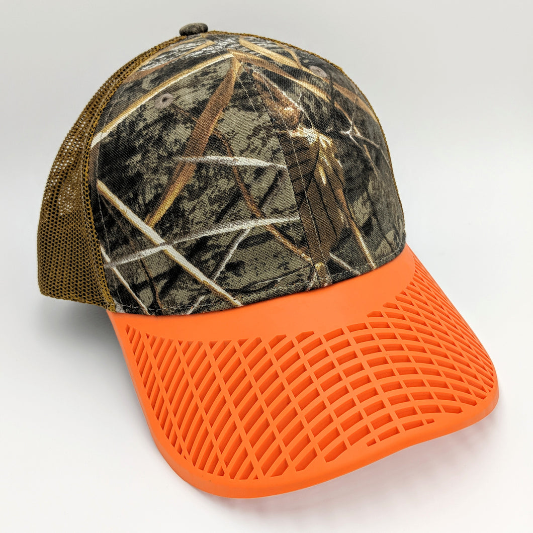 Camo Brown and Orange Trucker Hat #1