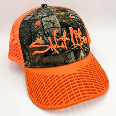 LIMITED EDITION: Salt Life Orange Camo Trucker Hat