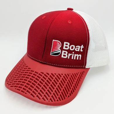 Boat Brim Trucker Hat - Red