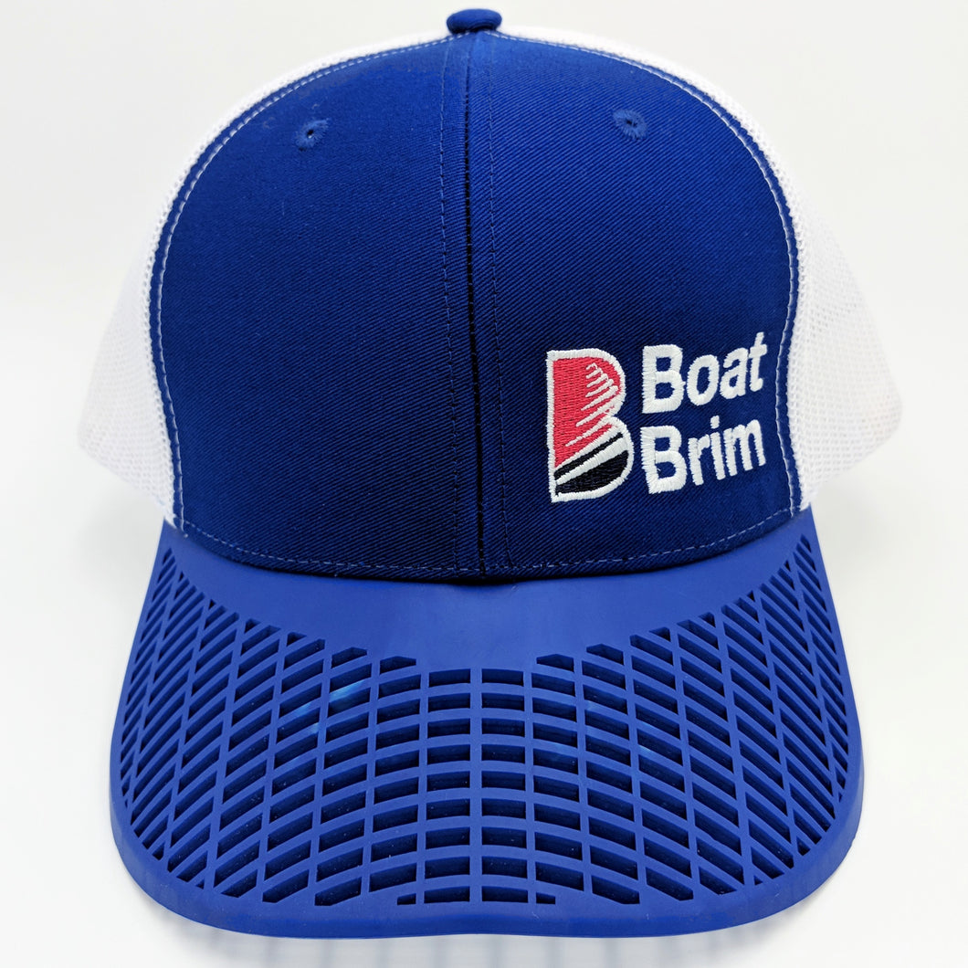 Boat Brim Trucker Hat - Blue