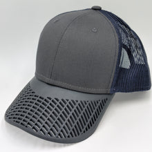 Boat Brim Trucker Hat - Navy Charcoal