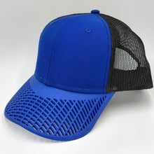 Boat Brim Trucker Hat - Blue and Black
