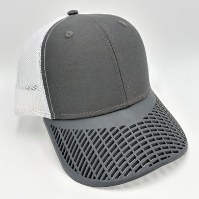 Charcoal and White Trucker Hat