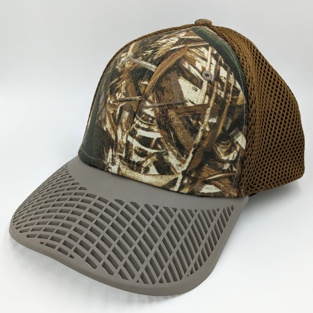 Fitted Camo w/Brown Brim Trucker Hat