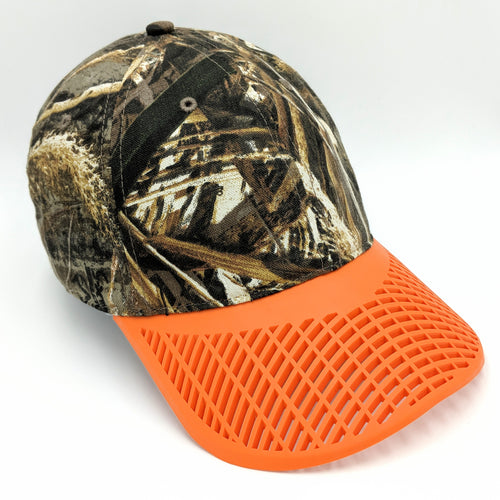 Camo Hat - Orange Brim