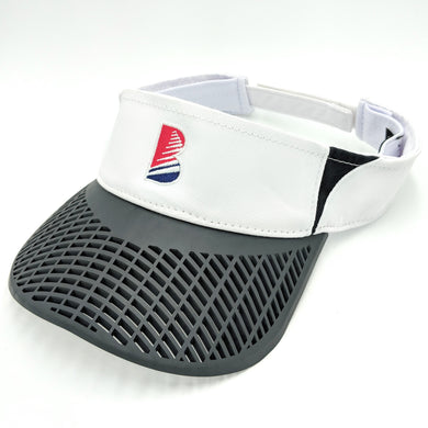Elite Performance Visor - White with Charcoal Brim