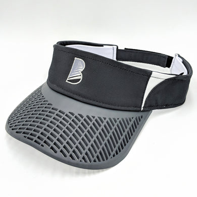 Elite Performance Visor - Black with Charcoal Brim