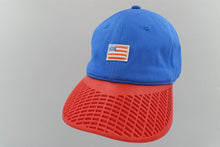 Small American Flag Hat - Red Brim