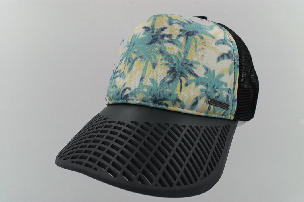 LIMITED EDITION: Roxy Palm Tree Surfer /  Trucker Hat w/ Charcoal Brim