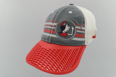 LIMITED EDITION: Figawi Nantucket Trucker Hat w/ Red Brim