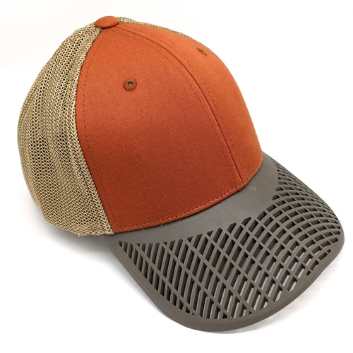 Fitted Burnt Orange Trucker Hat