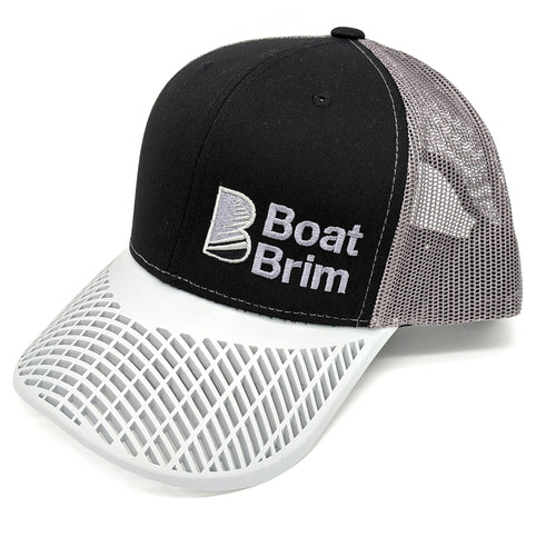 Boat Brim Trucker Hat - Charcoal & Grey