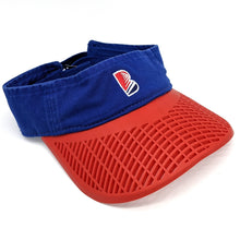 "Casual Visor - ""B"" Blue w/ Red Brim"