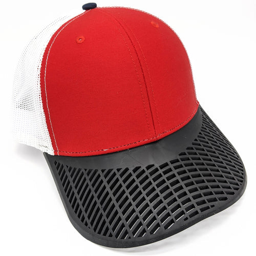 Red, Black, & White Trucker Hat