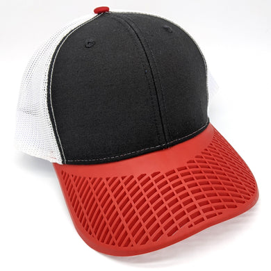 Black, White, & Red Trucker Hat