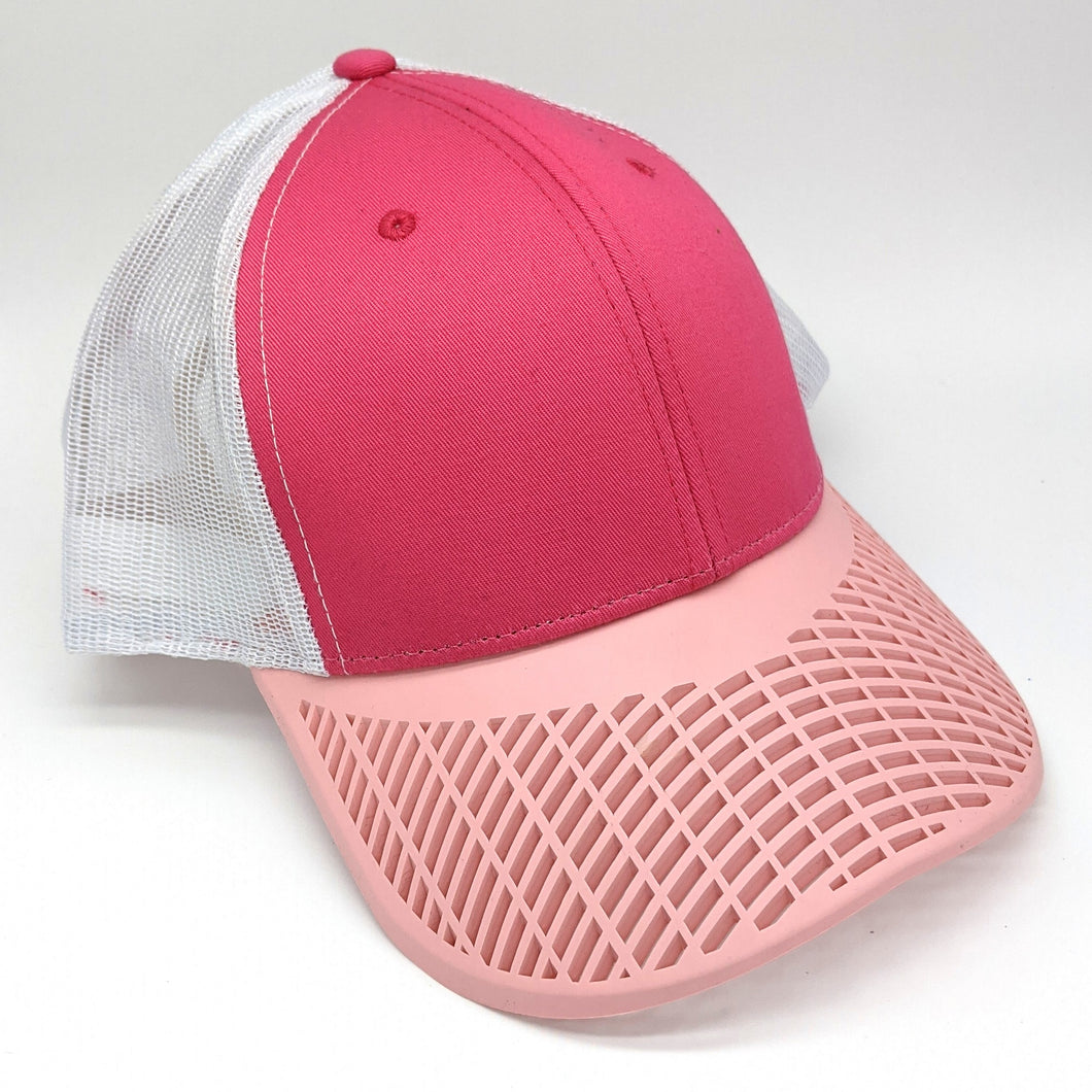 Ladies Coral Pink Trucker Hat