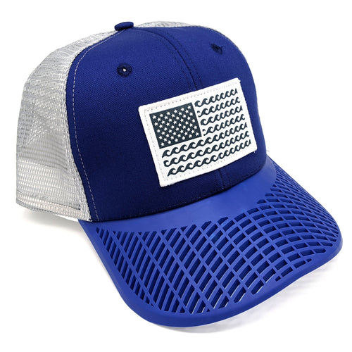 'Wave' Trucker Hat - Blue