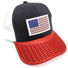 'Wave' Trucker Hat - Grey/Red
