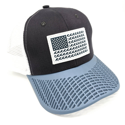 'Wave' Trucker Hat - Grey/Dove