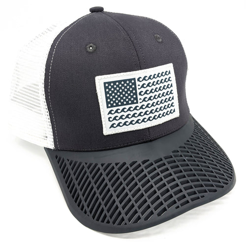 'Wave' Trucker Hat - Grey