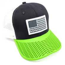 'Wave' Trucker Hat - Grey/Green