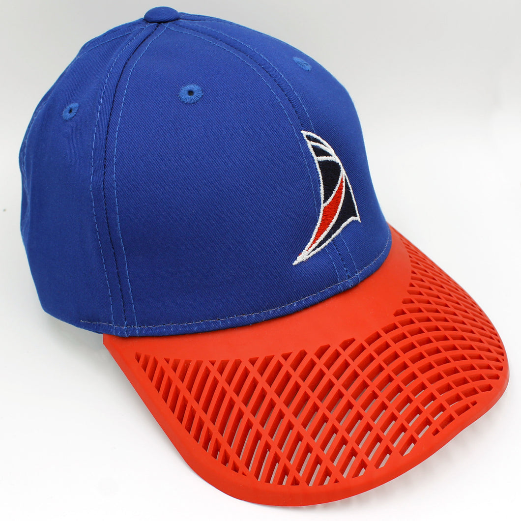 Sail Hat - Blue with Red Brim