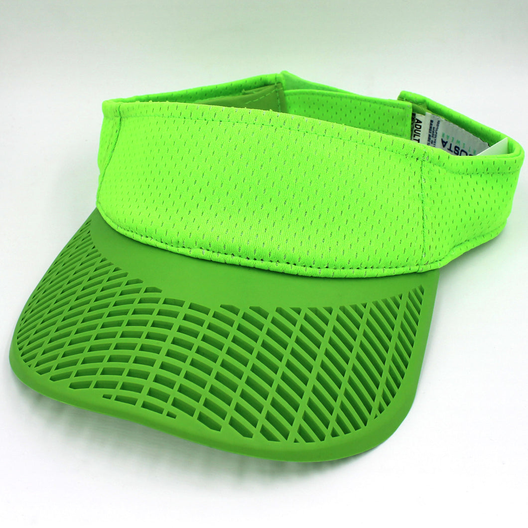 Performance Neon Visor - Neon Green Performance Visor w/ Neon Brim