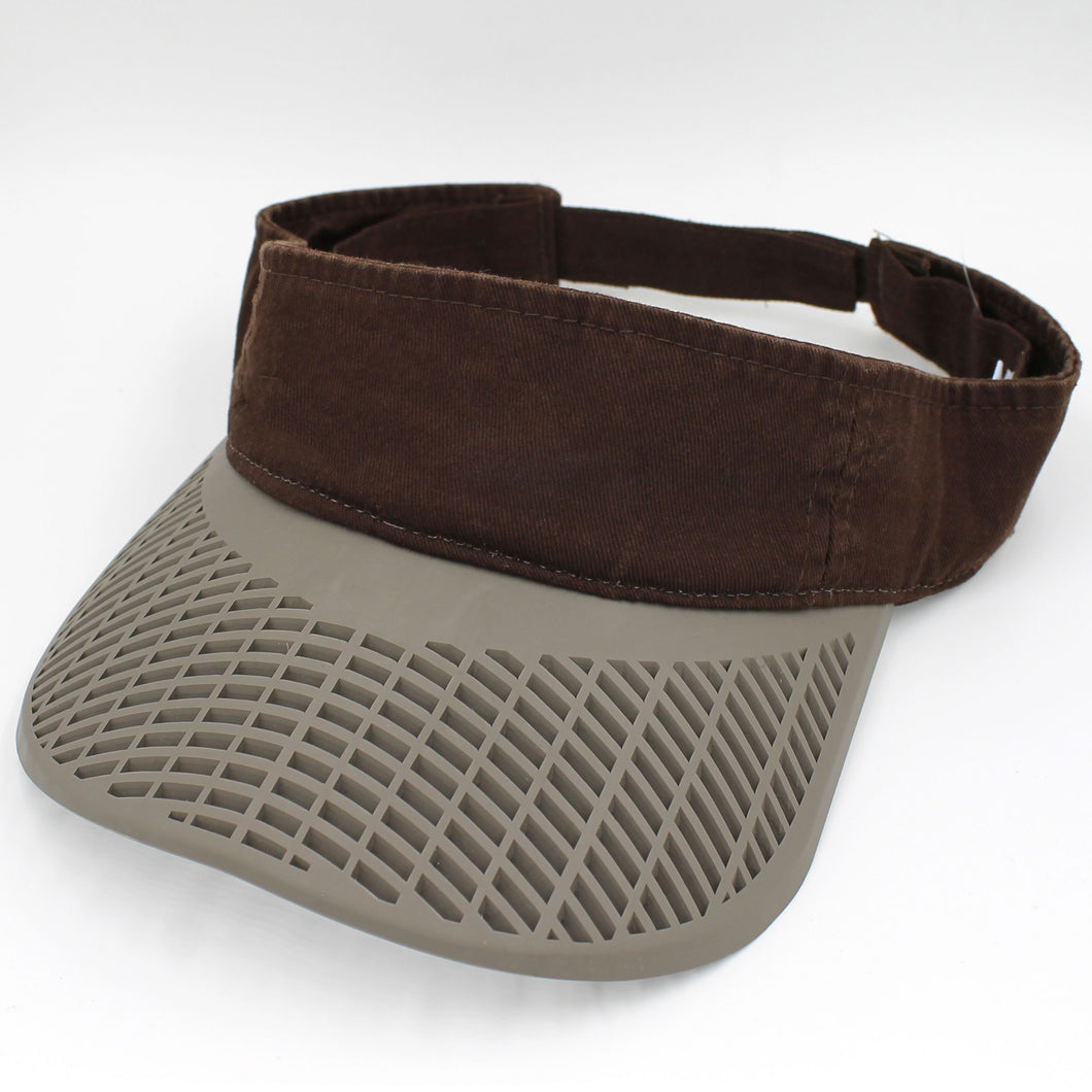 Casual Visor - Dark Brown Visor w/ Khaki Brim