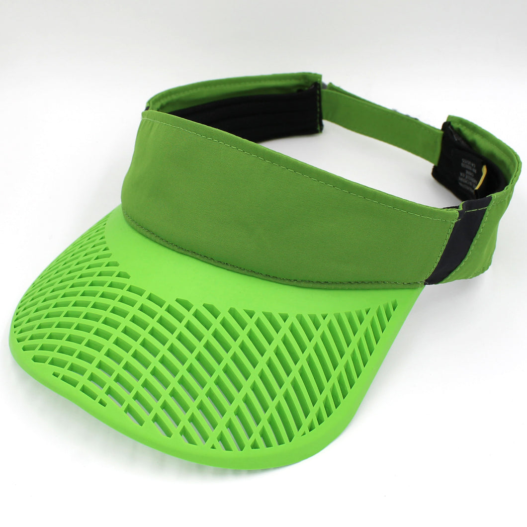 Elite Performance Visor - Elite Performance Visor - Green w/ Neon Green Brim