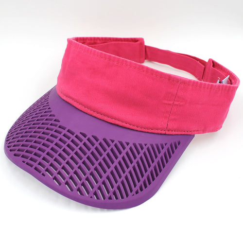 Casual Visor - Pink w/ Purple Brim