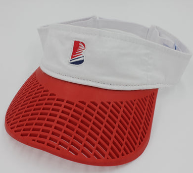 Casual Visor - White w/ Red Brim