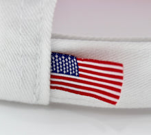American Flag Hat (100% Made in USA)  - Red Brim