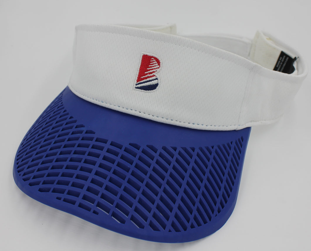 Standard Performance Visor - White w/ Blue Brim