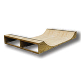 2 foot Half Pipe  This half pipe has been tested in a skate park environment. Although built for home this is an easy movable/storable or stationary half pipe.   - Less than 3 hours to build - Years of testing with skateboards, scooters and BMX - The 1800 wide is transportable and can fit though a standard door - Ability to increase size in future by adding on 3 or 4 foot extensions