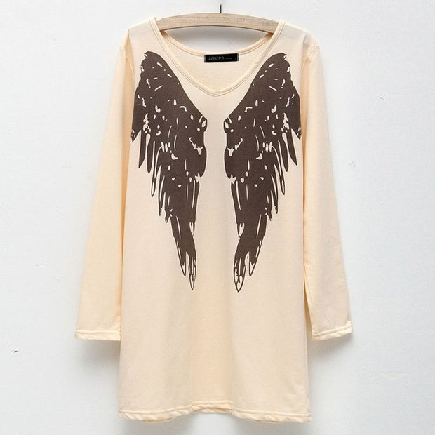 Long Sleeved Angel Wing Sweater Dress